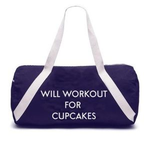 Private Party Will Workout For Cupcakes Gym Bag